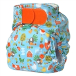 Bummis Tots Bots Easy Fit One Size Cloth Diaper Hook and Loop NEW