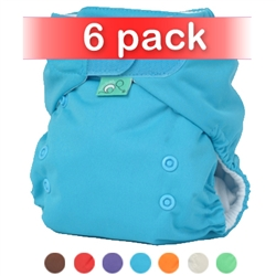 Bummis Tots Bots Easy Fit One Size Cloth Diaper NEW Aplix 6 Pack