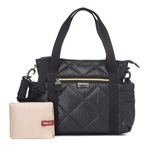 Babymel Cara Ultra Lite Quilted Baby Diaper Bag Black