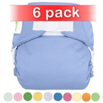 bumGenius 4.0 One-Size Stay-Dry Cloth Diaper Hook and Loop 6 Pack