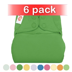 bumGenius Flip One-Size Cloth Diapering System Snap 6 Pack