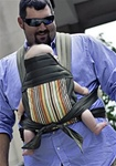 BabyHawk Mei Tai Baby Carrier - Olive Stripes on Olive Straps
