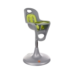 Boon Flair Pedestal High Chair Grey Seat and Green Pad