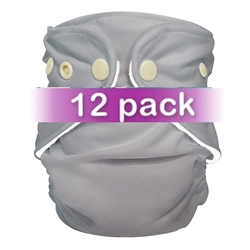 FuzziBunz Adjustable Pocket Diaper - 12 Pack Gender Neutral Colors