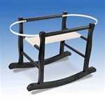 Jolly Jumper Deluxe Moses Basket Rocking Stand Espresso