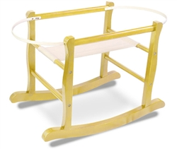 Jolly Jumper Deluxe Moses Basket Rocking Stand Natural
