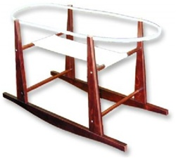 Jolly Jumper Rocking Moses Basket Stand Cherry