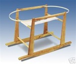 Jolly Jumper Rocking Moses Basket Stand Oak