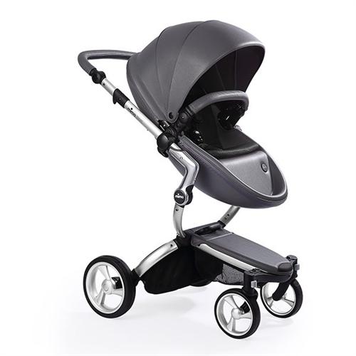 Mima Xari Stroller - Cool Grey with Silver Frame   DaintyBaby.com