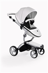 Mima Xari Stroller - Snow White with Black Frame
