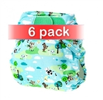 Tots Bots Easy Fit One Size Cloth Diaper V4 - 6 Pack