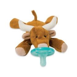 Wubbanub Infant Plush Toy Pacifier Longhorn Bull